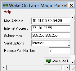 how to use solarwinds wake on lan