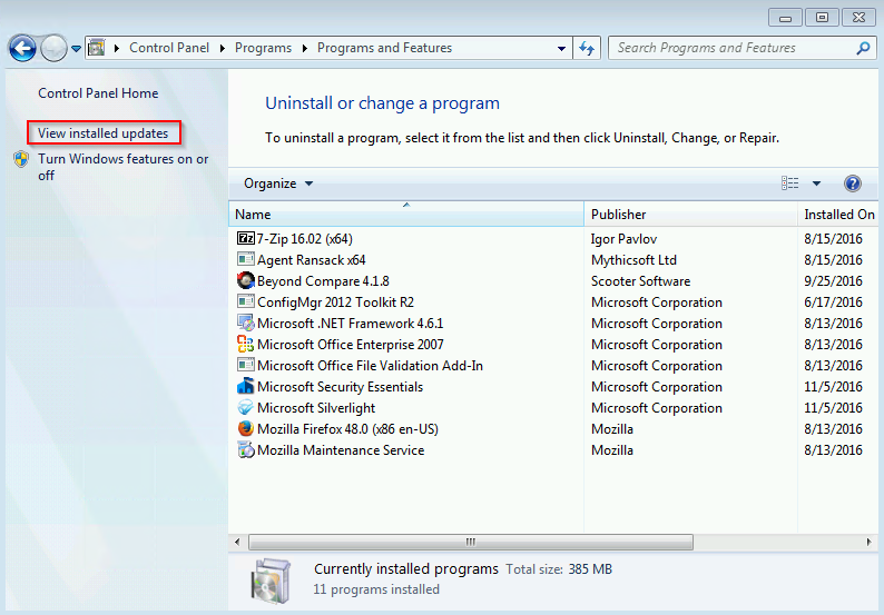 How to further speed up Windows 7 Update after KB3138612